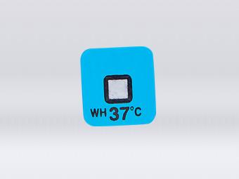 Warm high temperature indicator label
